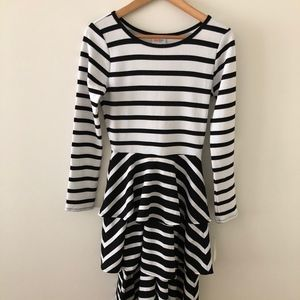 NWT LuLaRoe Georgia Dress - Black & White Strips S
